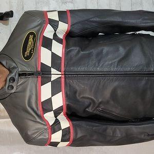 Triumph Genuine Leather Retro Motorcycle Jacket